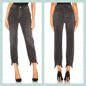 Free People Chewed Up Mid-Rise Straight Leg Jeans